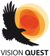 Logo vision questu, orel a slunce